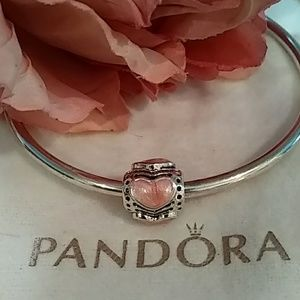 Pandora Pink Enameled ❤️'s Charm